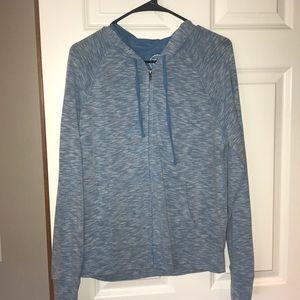 NWOT NEVER WORN BABY BLUE ZIPUP SIZE XL
